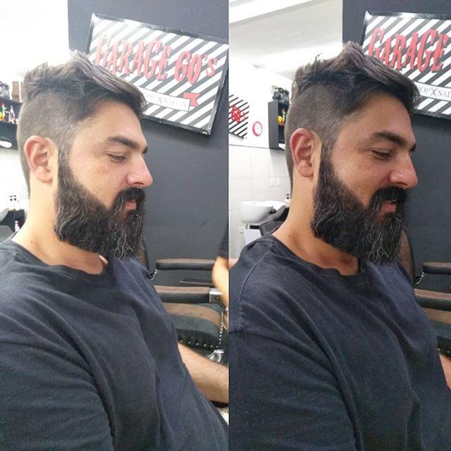 Esse é veterano da casa , 🖤🤘,valeu Alê, Barba por @barba_rakoch e cabelo @pedrobonanigarage60s #garage60s #garage60sbarbershop #barbergirl #barbeariasp #barbershop #barbearia #barbeirasdobrasil Nosso agendamento é online garage60s.com